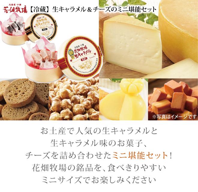 花畑牧場【冷蔵】生キャラメル&チーズのミニ堪能セット